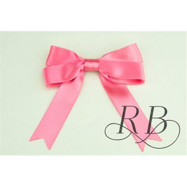 Ribbon Bazaar 6507 1 in. Luxious Satin Ribbon, Pink Lemonade - 25 Yards