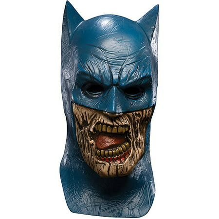 Batman Zombie Adult Halloween Latex Mask Accessory - Michael Keaton Batman Mask