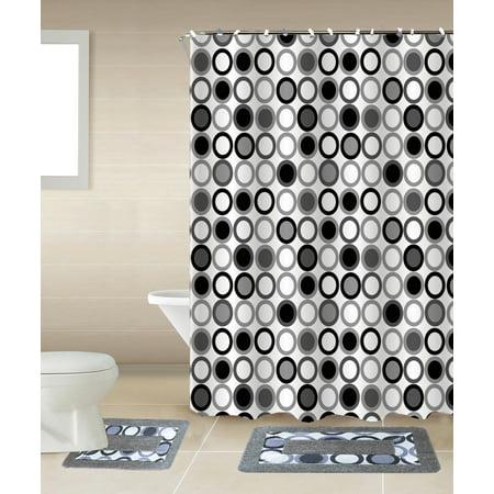 Mitosis 15 Piece Circles Bathroom Accessories Set Rugs