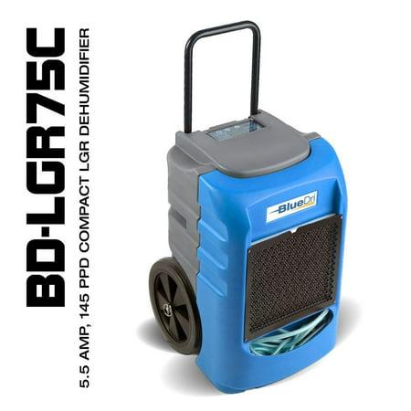 BlueDri BD-LGR75C 75PPD AHAM 145PPD Compact Low Grain Commercial Dehumidifier Blue (Dehumidifier Commercial)