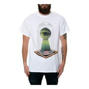 Black Scale Mens The Unlock Faith Graphic T-Shirt white L