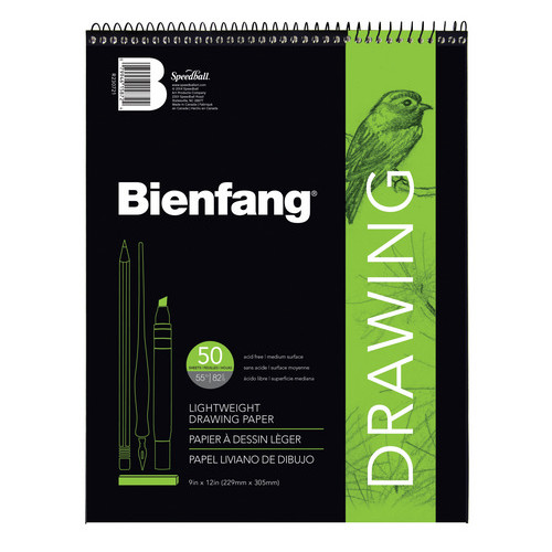 SPEEDBALL ART PRODUCTS R230721 BIENFANG 501 CL DRAWING PAD 60LB 50 SHEETS 9X12