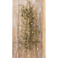 """24"""" Green and White Dried Cotton Pod Garland"""