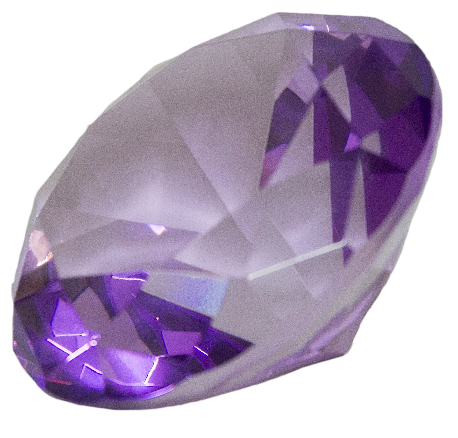 3.25 Inch Large Multifaceted Solitare Cut Jewel Paperweight (Purple), 3.25 x 2.25 inches By Barry Owen Co