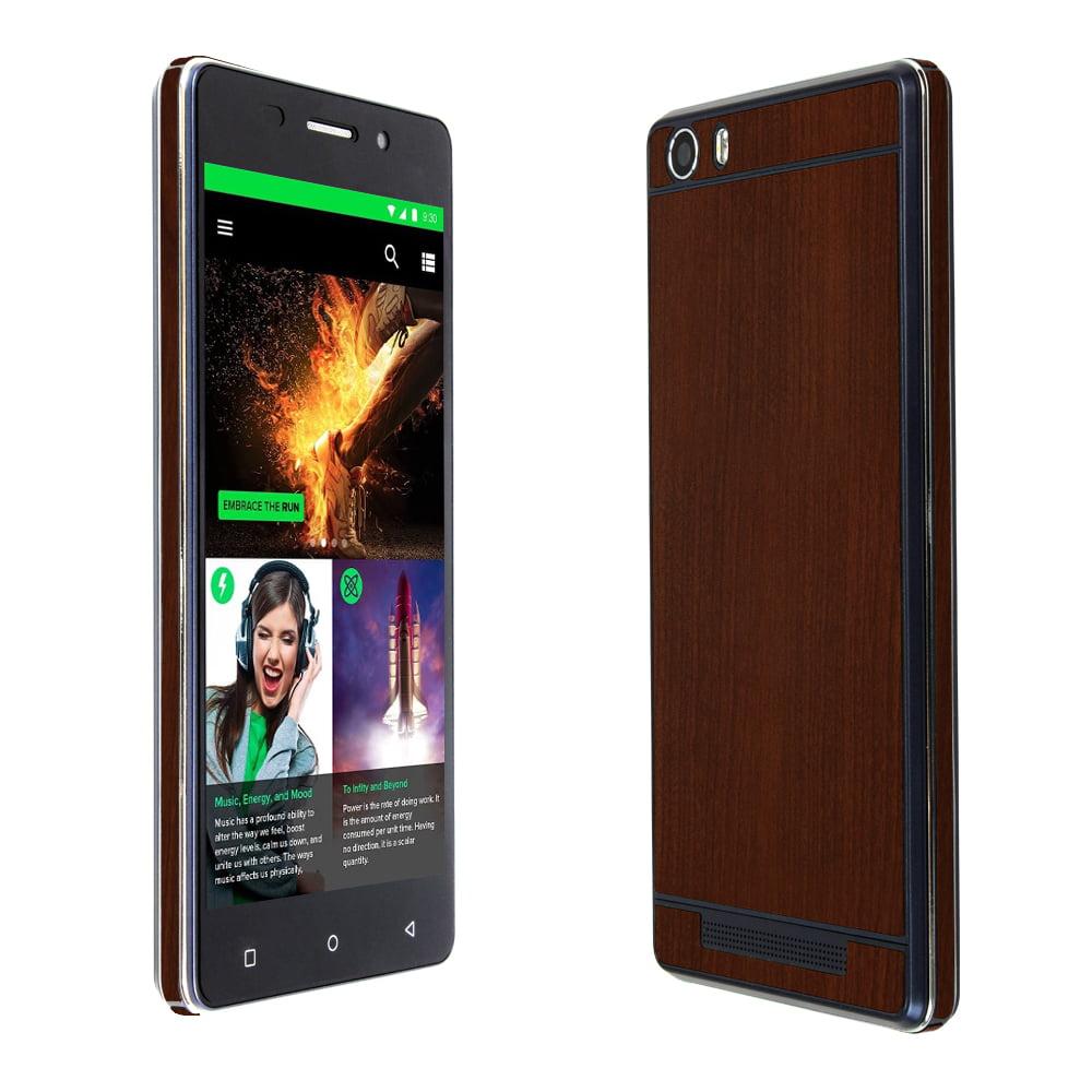 Skinomi Dark Wood Skin & Screen Protector for BLU Energy X LTE
