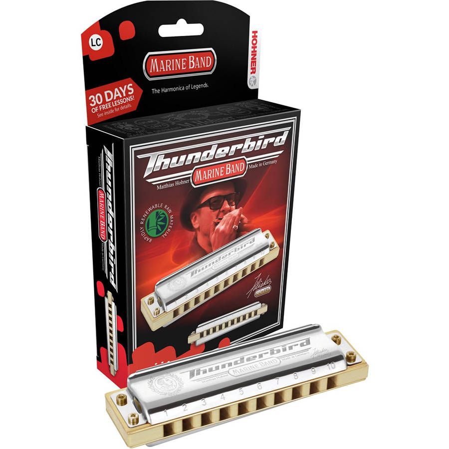 Hohner Marine Band Thunderbird Diatonic Harmonica, Key of LG