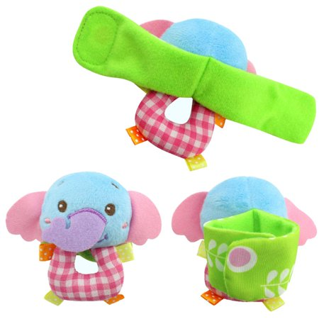 Baby Cute Kawii Wrist Band Rattle Socks Stuffed Cartoon Animal Lovely Toy Plush Doll Bell Ring Paper Kids Children Toys