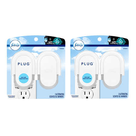 (2 pack) Febreze Plug Scented Oil Warmer, 4 Count