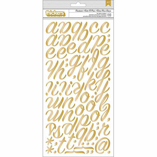 "American Crafts On Trend Chipboard Thickers Alphabet Stickers, 5-1/2"" x 11"""