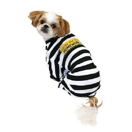 Homework Eater Dog Prisoner Costume Write the Crime Pet Pajamas](Dog Costume Prisoner)