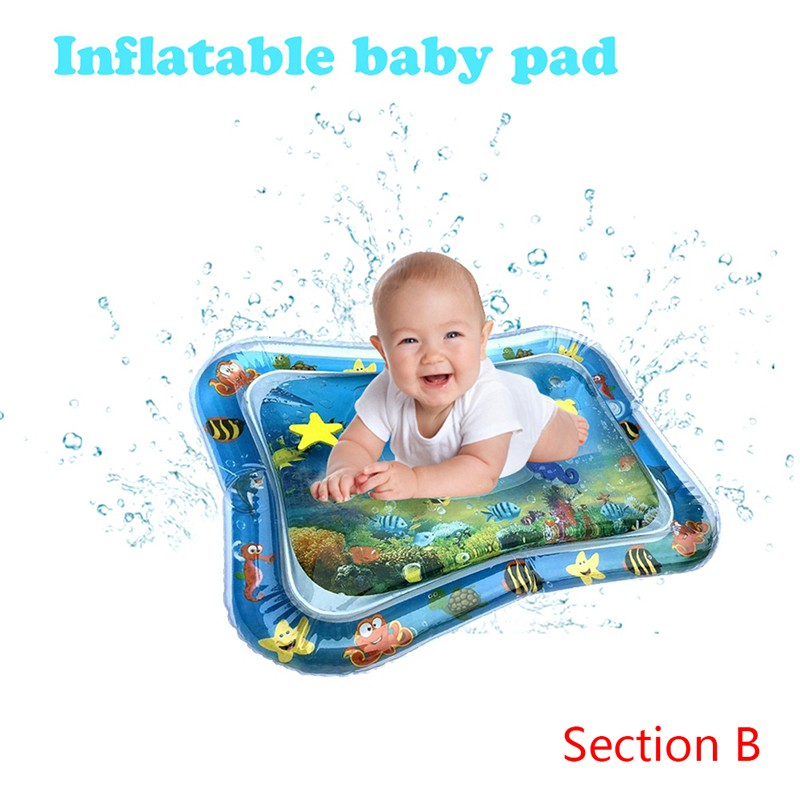 Inflatable Baby Water Mat Novelty Play Best Tummy Time for Kids Children Infants