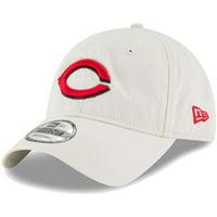 Cincinnati Reds New Era Core Classic Twill 9TWENTY Adjustable Hat - Tan - OSFA