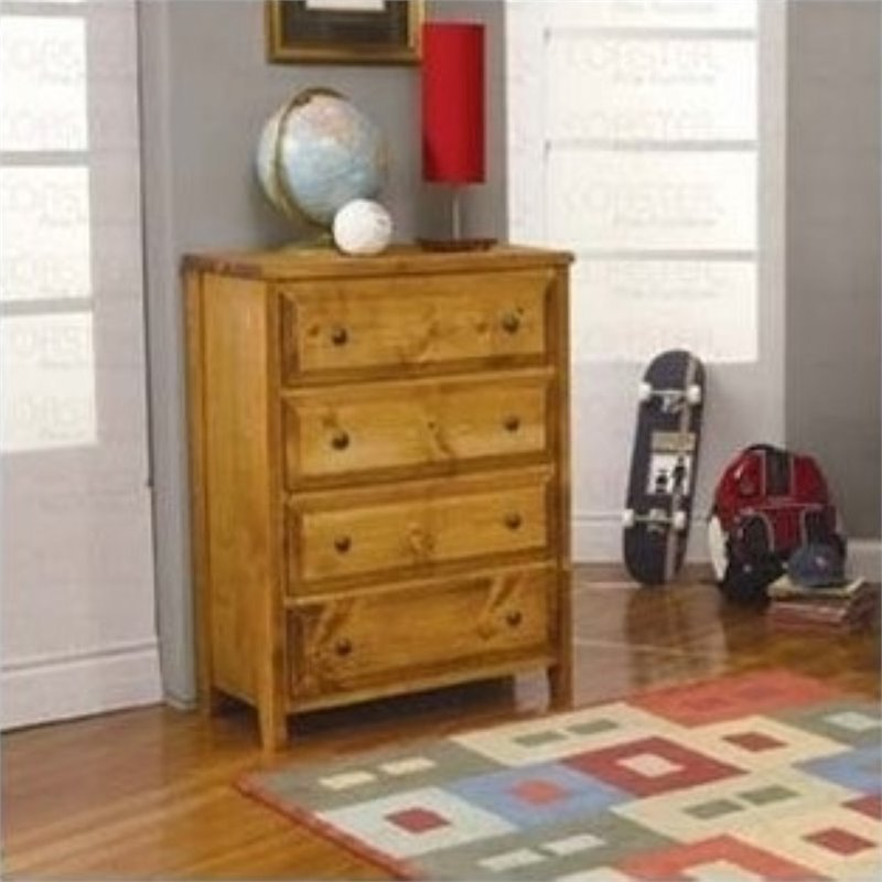 Bowery Hill 4 Drawer Dresser in Amber Wash