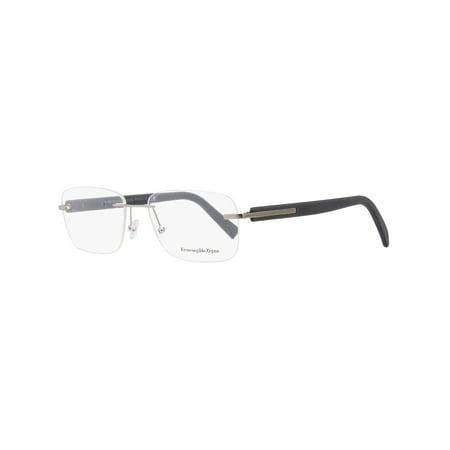 Ermenegildo Zegna Rimless Eyeglasses EZ5003 017 Matte Palladium/Gray 56mm - Zinna Glasses