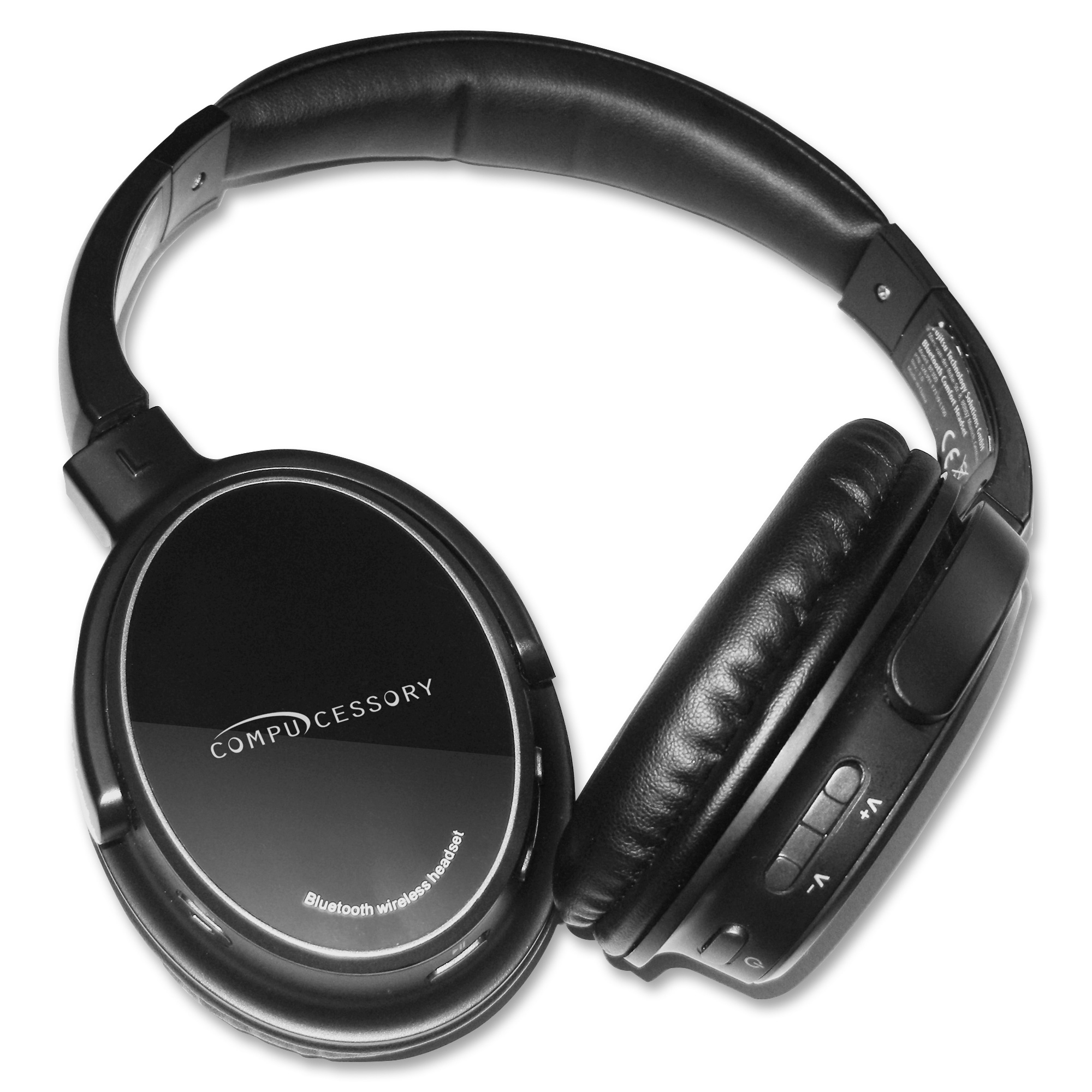 Compucessory, CCS28287, Bluetooth Headphone with Microphone, 1, Black,Silver