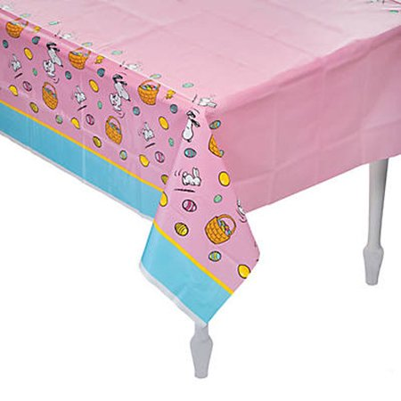 Peanuts Snoopy Easter Plastic Table Cover - Easter Snoopy