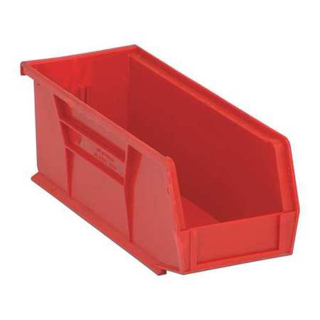 Quantum Storage Systems 30 lb Capacity, Hang and Stack Bin, Red QUS224RD