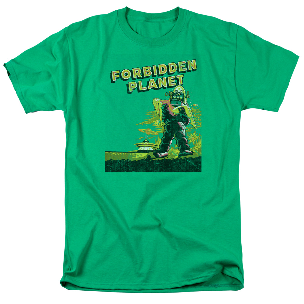 Forbidden Planet Old Poster Mens Short Sleeve Shirt