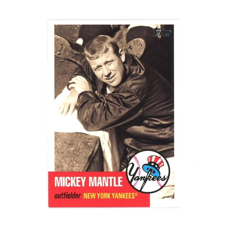 2007 Topps Chrome Mickey Mantle - 2007 Topps Mickey Mantle Story #MMS20 Yankees Timeless Card