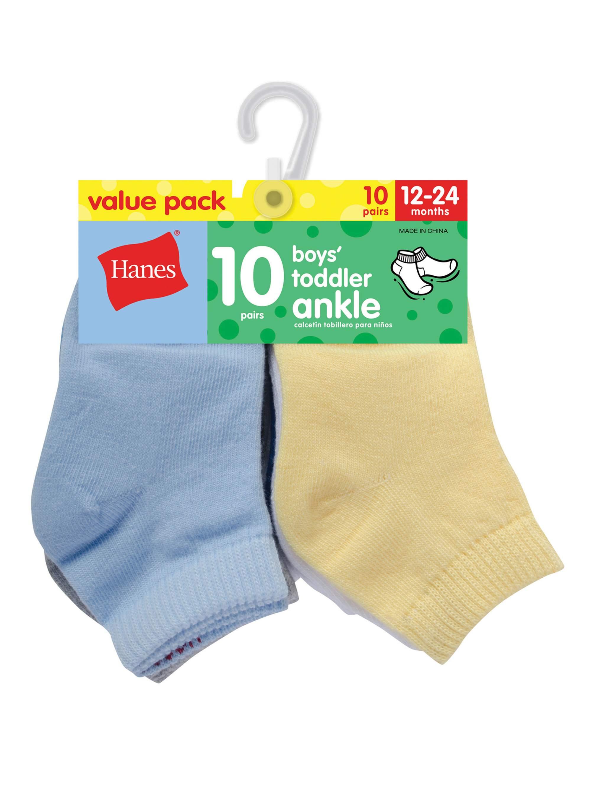 Newborn Baby Boy Ankle Socks - 10 Pack