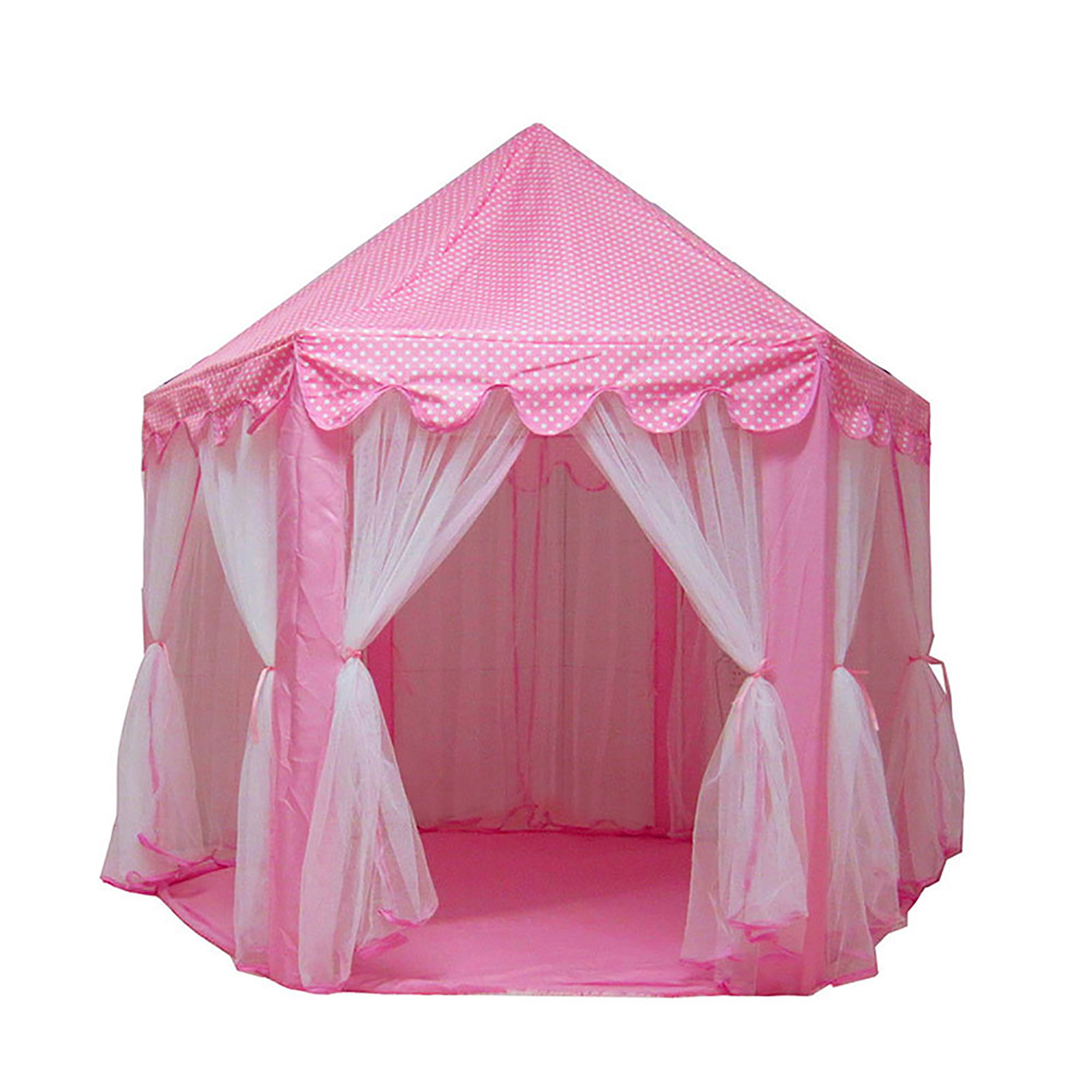 Tents For Girls Princess Castle Play House Large Outdoor Kids Play Tent For Girls Pink Walmart Com Walmart Com