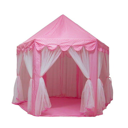 Tents for Girls, Princess Castle Play House Large Outdoor Kids Play Tent for Girls Pink