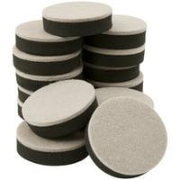 "Super Sliders 2-1/2"" Round Felt Furniture Sliders Beige, 16 Pack"