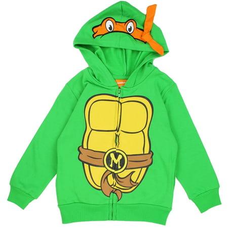 Teenage Mutant Ninja Turtle Costume Zip Hoodie for Boys - Teenage Mutant Ninja Turtles Hooded Sweatshirt