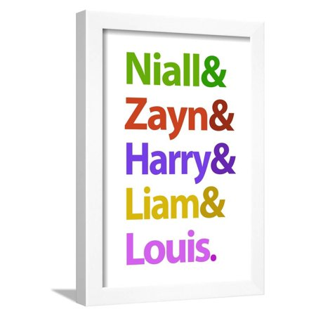 Niall Zayn Harry Liam and Louis Music Poster Framed Print Wall Art - Zayn Et Louis Halloween
