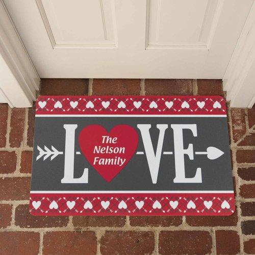 Personalized Welcome Love Doormat