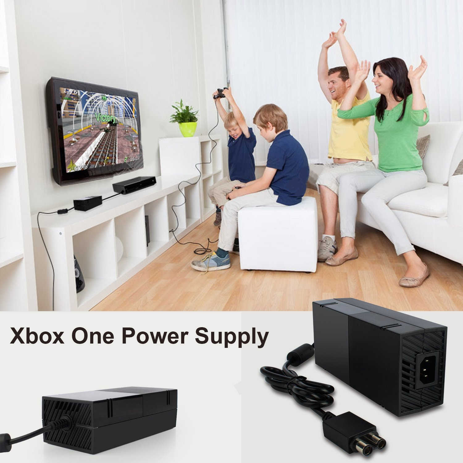 XBOX One Power Supply Cord Brick AC Power Adapter for Xbox One ...