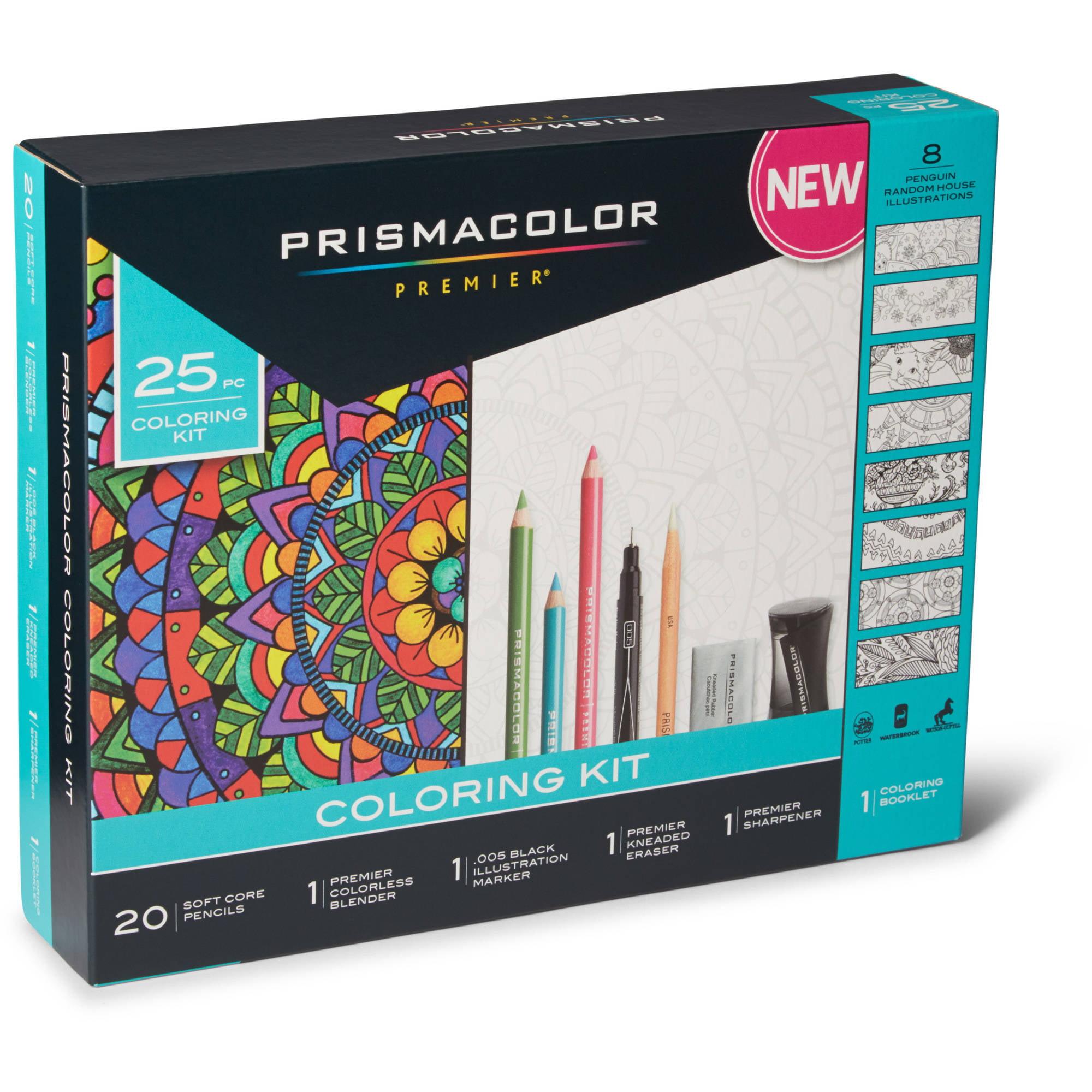 Prismacolor Premier Adult Coloring Book Kit, 25 Piece Set