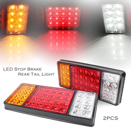 - GZYF 2Pcs 12V 36 LED Stop Indicator Reverse Tail Light Truck Trailer Lamp Boat Rear Lights
