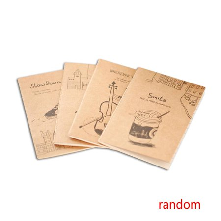 JOYFEEL 5 Pcs Retro Exercise Books Students Cute Soft Copy Of Cartoon Mini Notebook School Stationery for
