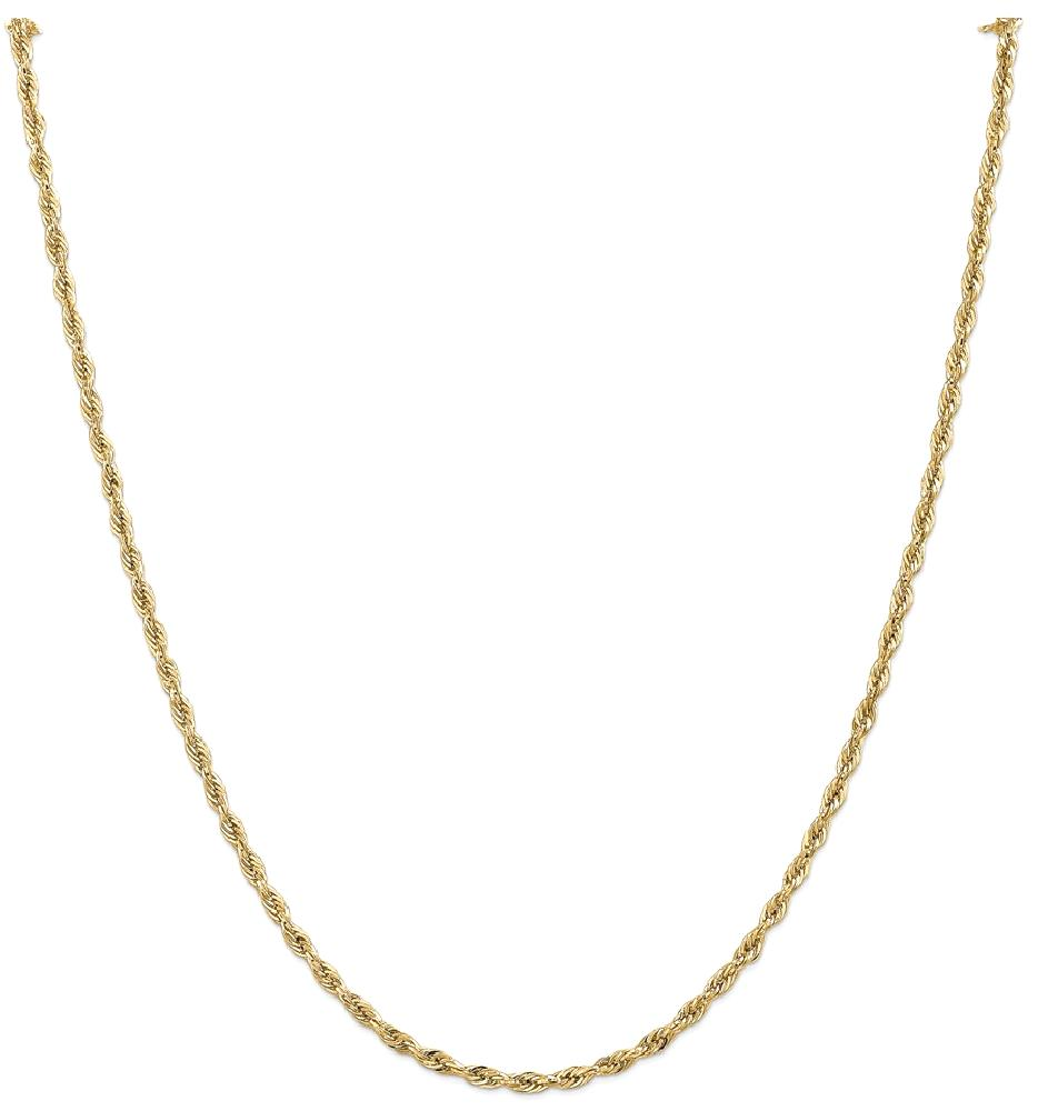 ICE CARATS 14kt Yellow Gold 2.8mm Link Rope Chain Necklace 20 Inch Pendant Charm Fine Jewelry Ideal Gifts For Women Gift... by IceCarats Designer Jewelry Gift USA