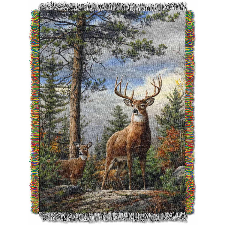 King Stag Deer Tapestry Throw