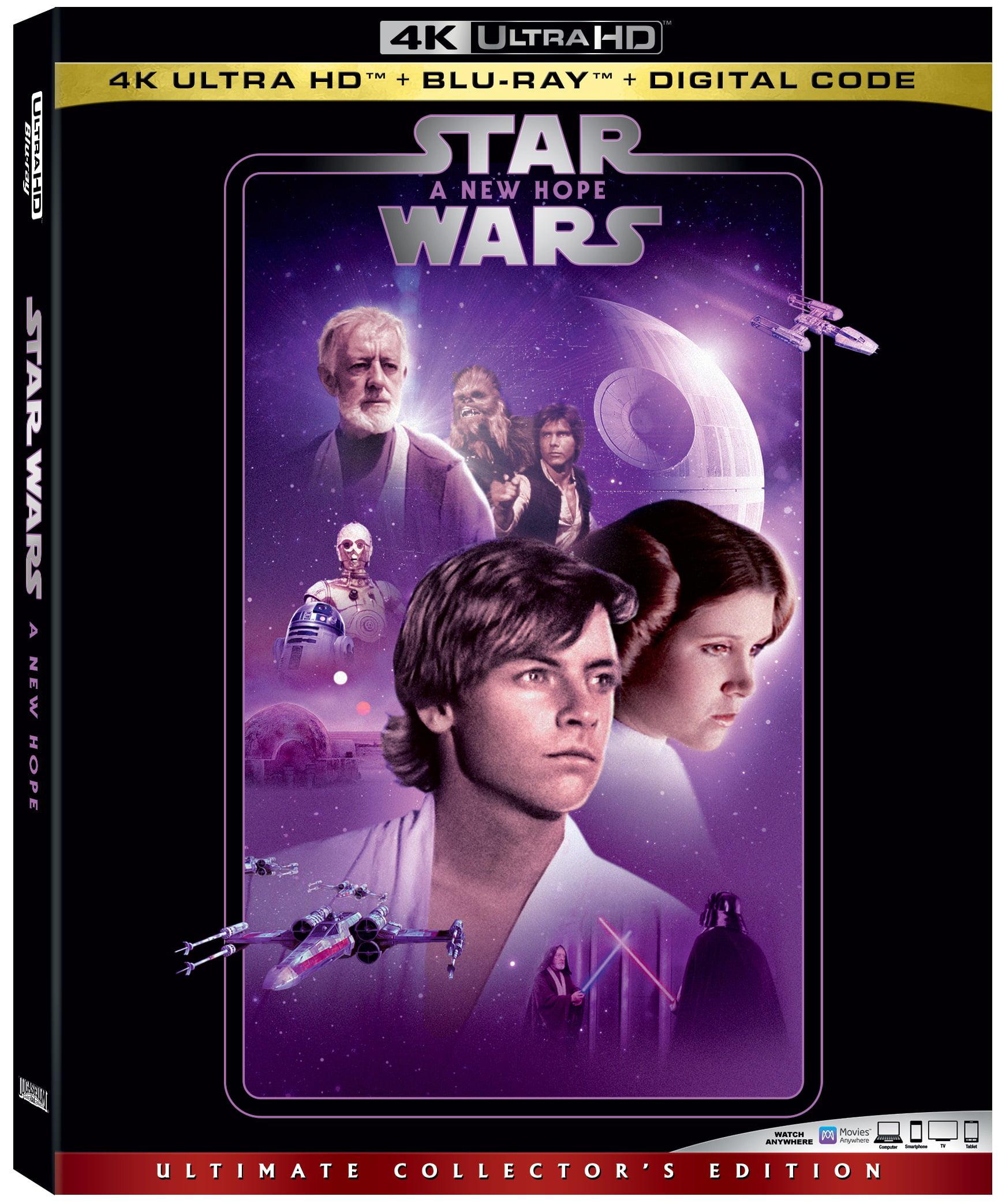 Star Wars Episode Iv A New Hope 4k Ultra Hd Blu Ray Digital Copy Walmart Com Walmart Com
