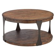 Magnussen Montgomery Reclaimed Wood Round Coffee Table with Casters