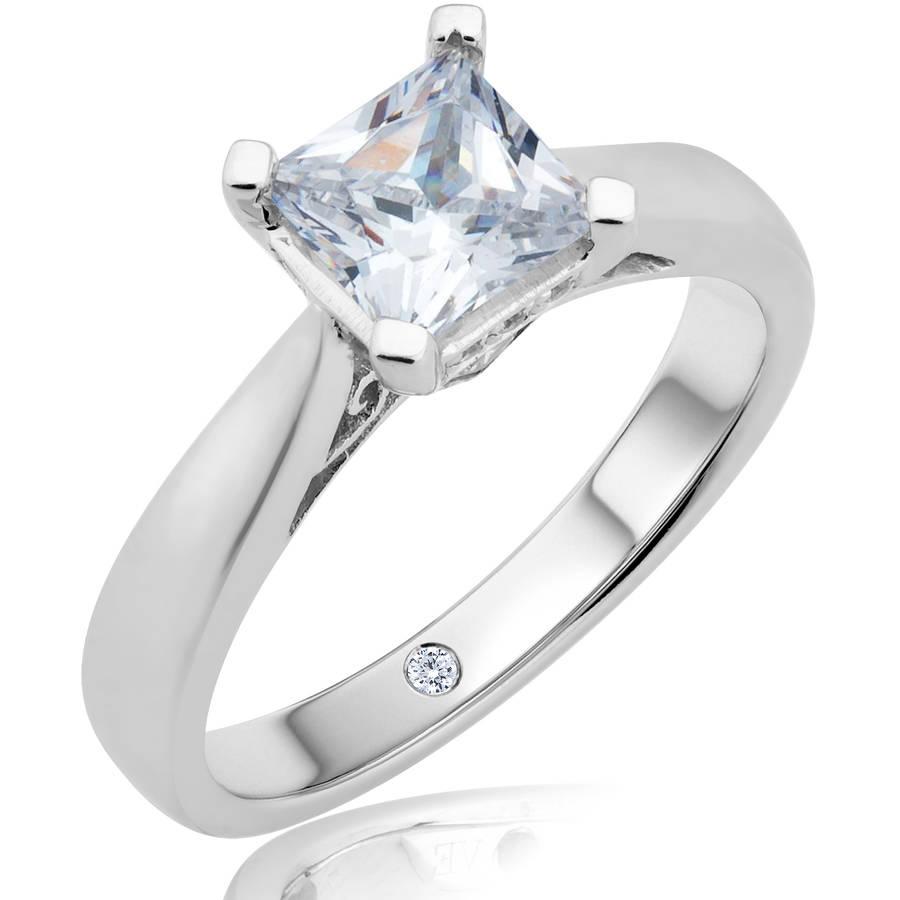 Carina 1-3/4 Carat T.W. Certified Princess Diamond 14kt Gold Solitaire Ring