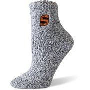 Phoenix Suns Women's Fuzzy Block Tri-Blend Socks - Black