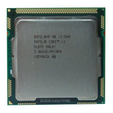 Refurbished Intel Core i3 -540 3.06GHz LGA 1156/Socket H 2.5 GT/s CPU
