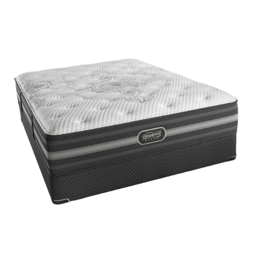 Simmons Desiree King Size Luxury Firm Mattress and Low Profile Box Spring Set Beautyrest Black Desiree