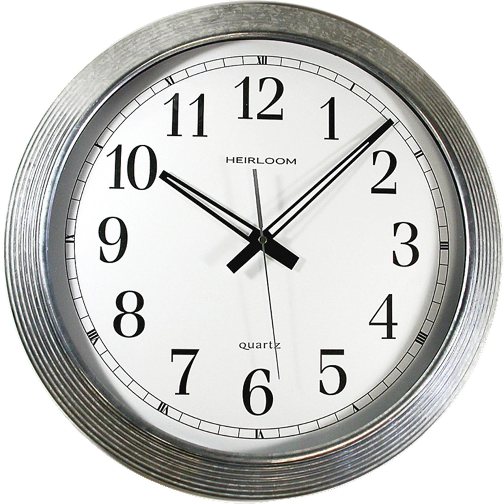 "Artistic 16"" Galvanized Metal Round Wall Clock"