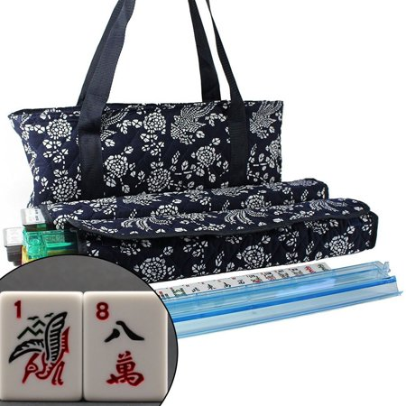 166 Tiles American Mahjong Set Blue Phoenix Soft Bag 4 Color Pushers/Racks Easy Carry Western - Buy Mahjong