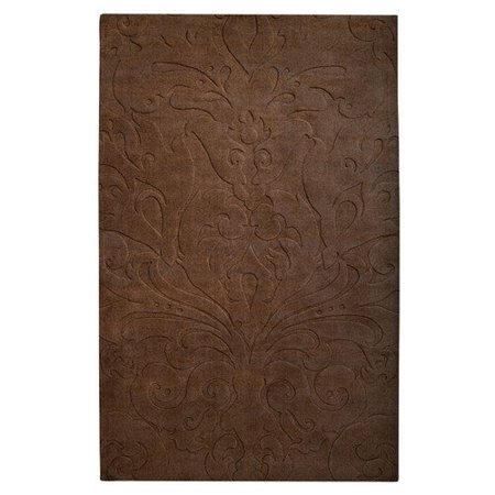 Candice Olson Rugs Sculpture Square Chocolate Area Rug