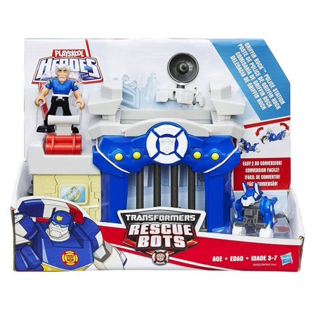 Transformers Rescue Bots Playskool Heroes Griffin Rock Police Station Toy (Rock Playset)