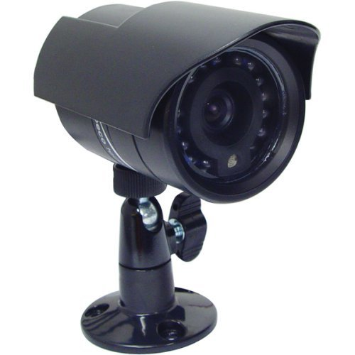 Speco VL-62/W Weatherproof Camera with Built-in IR LEDs - White - Color - CCD - Cable