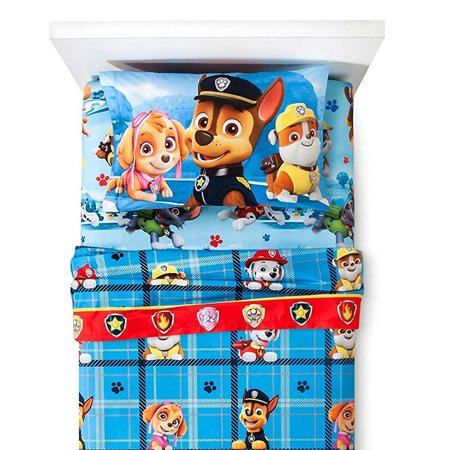 Franco Manufacturing Company Inc 18874962 Paw Patrol Twin Flannel Sheets Pups On The Loose Bedding