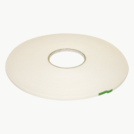 JVCC DC-PEF12A Double Coated Polyethylene Foam Tape: 1/8 in. thick x 1/4 in. x 18 yds. (White)
