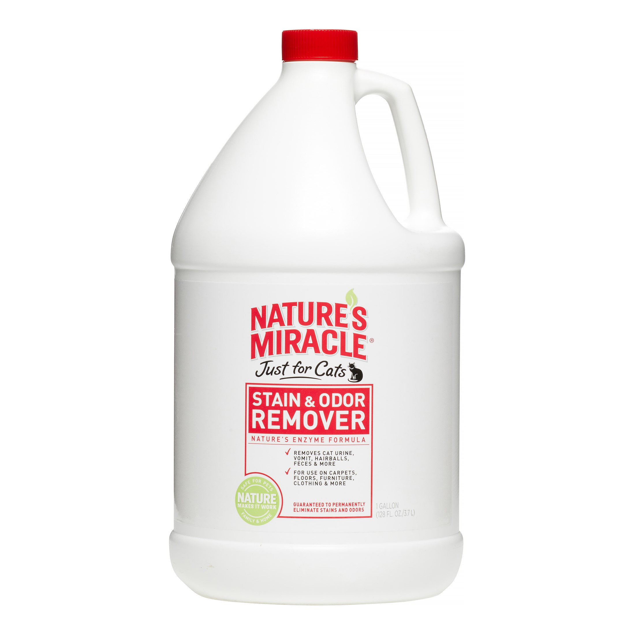 Spectrum Brands Natures Miracle Just For Cats Stain & Odor Remover, 1 gal